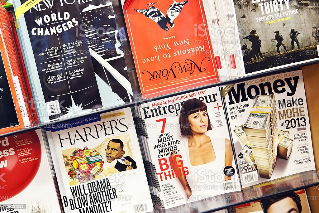 Stack of magazines # 9 L royalty-free stock photo