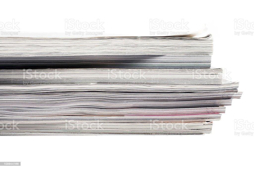 Pila de revistas foto de stock libre de derechos