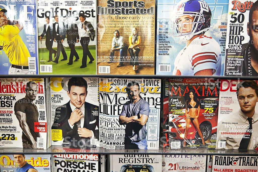 Stack of magazines # 13 XL stock photo
