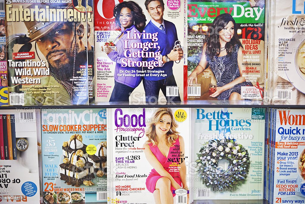 Stack of magazines # 10 XL stock photo