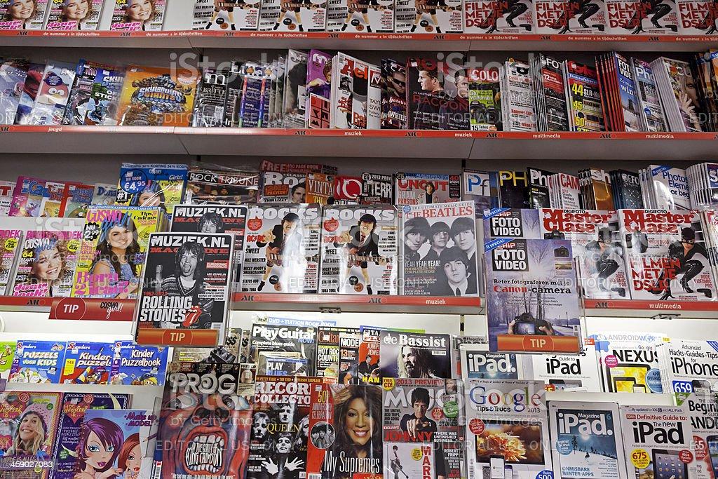 Stack of magazines # 18 XXXL stock photo