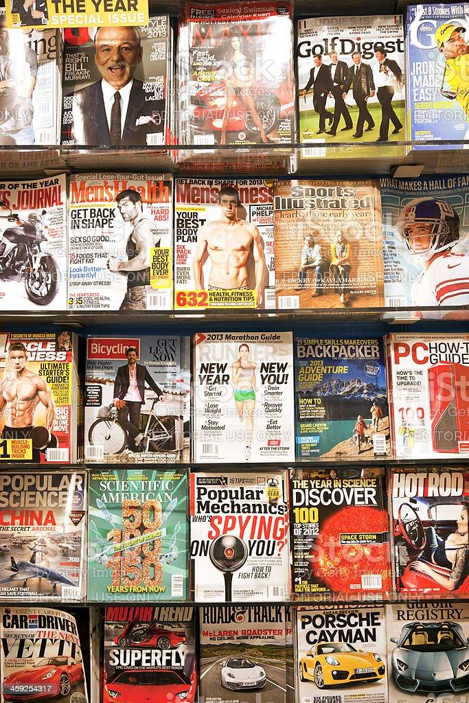 Stack of magazines # 4 XXXL stock photo
