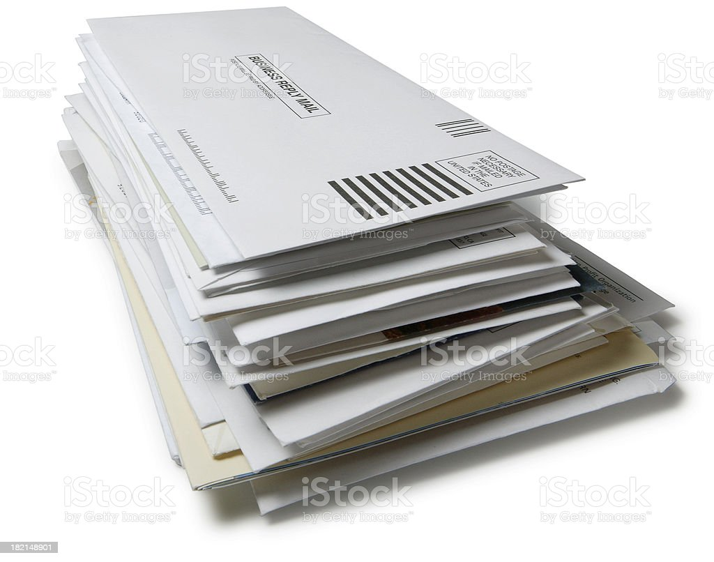 Stack of Mail 2 stock photo