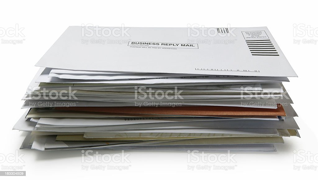 Stack of Mail 3 stock photo
