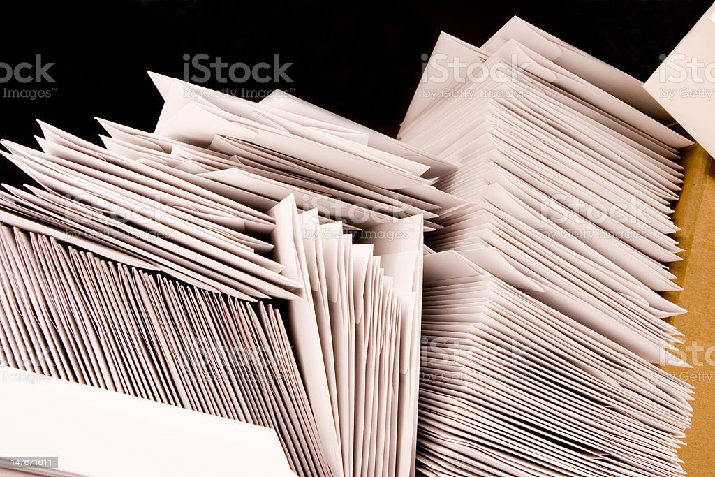 Stack of Mail stock photo
