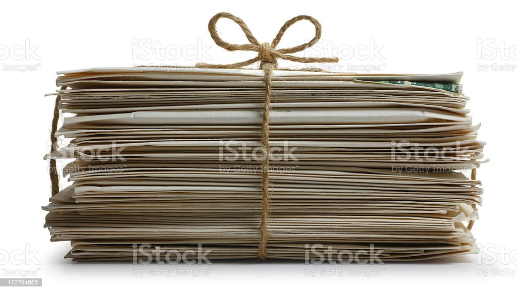 Stack of mail royalty-free stock photo