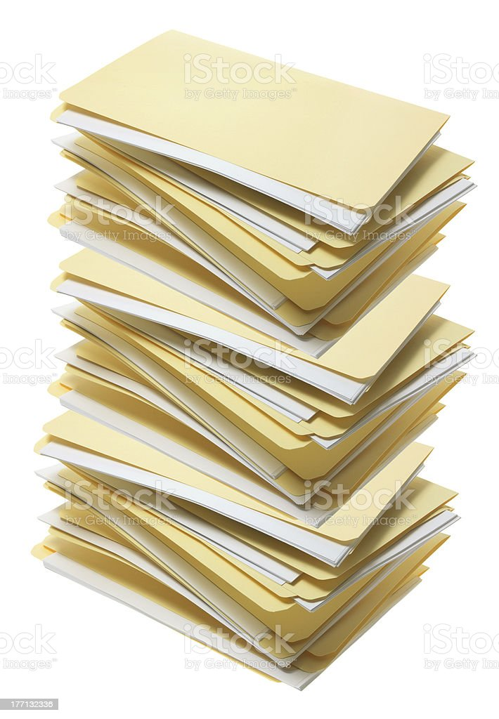 Stack of Manila File Folders stock photo
