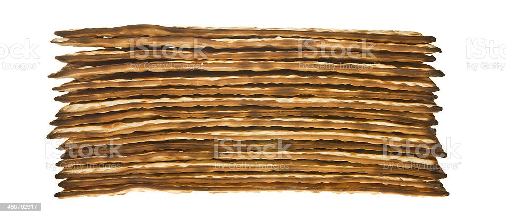 Stack of Matzo royalty-free stock photo
