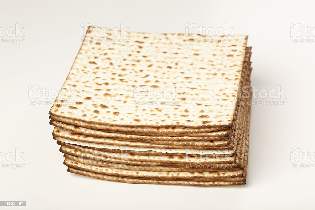 Stack of matzot. royalty-free stock photo