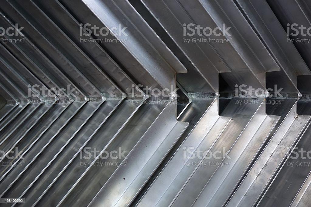 stack of metal angle stock photo