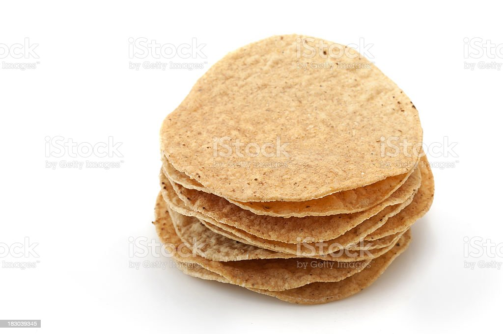 Stack of Mexican Tostadas stock photo