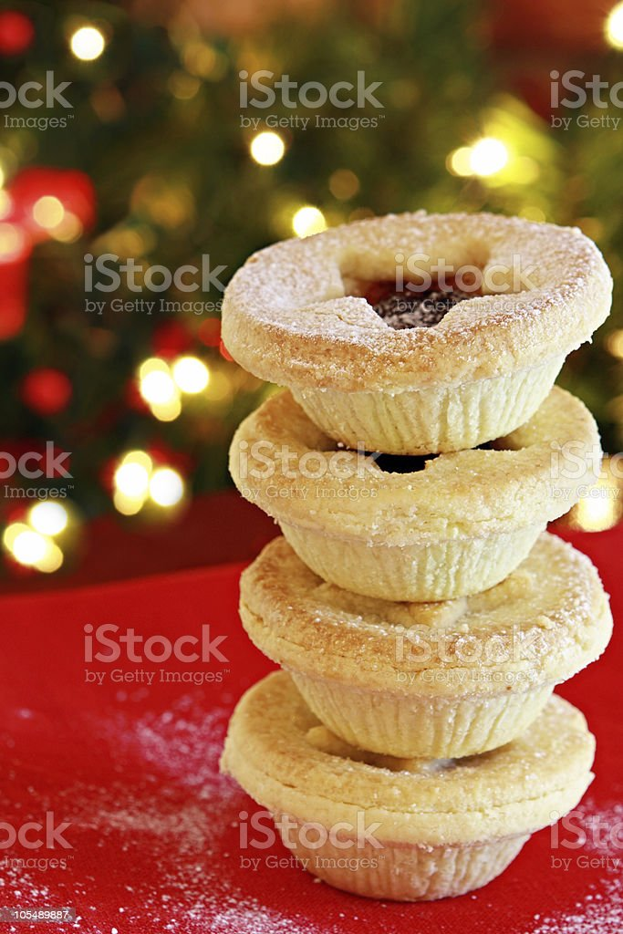 Stack of Mince Pies royalty-free stock photo