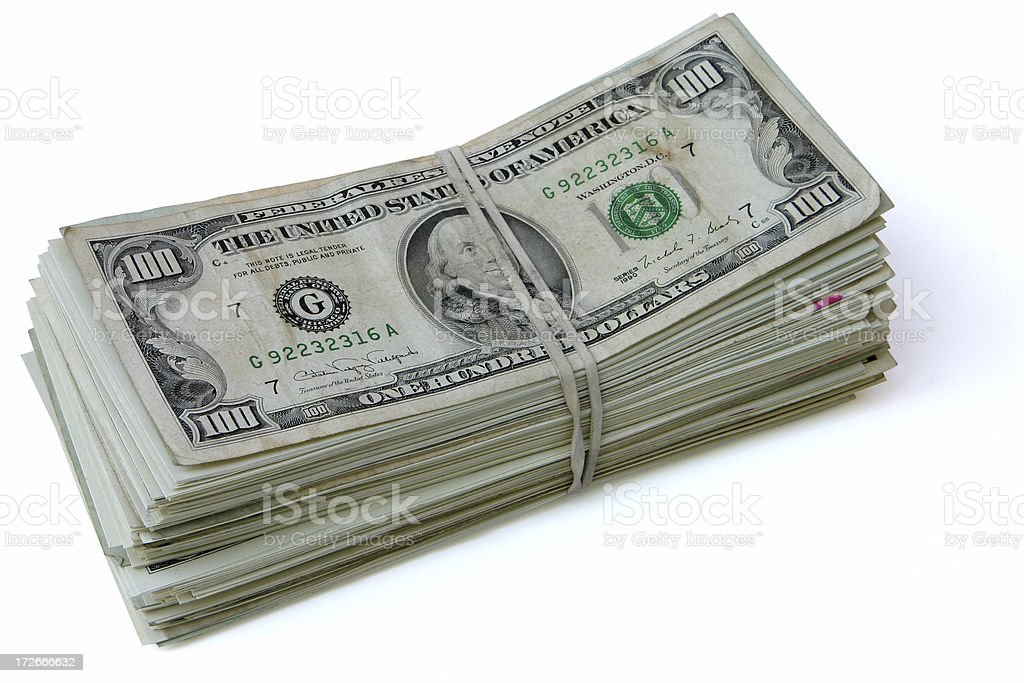 Stack of Money royalty-free stock photo