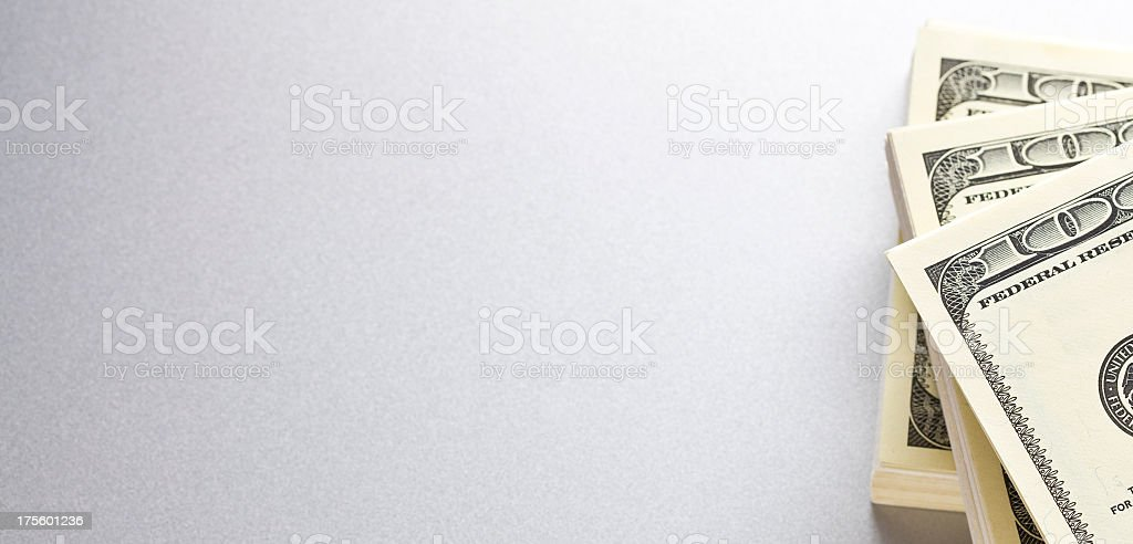Stack of money stock photo