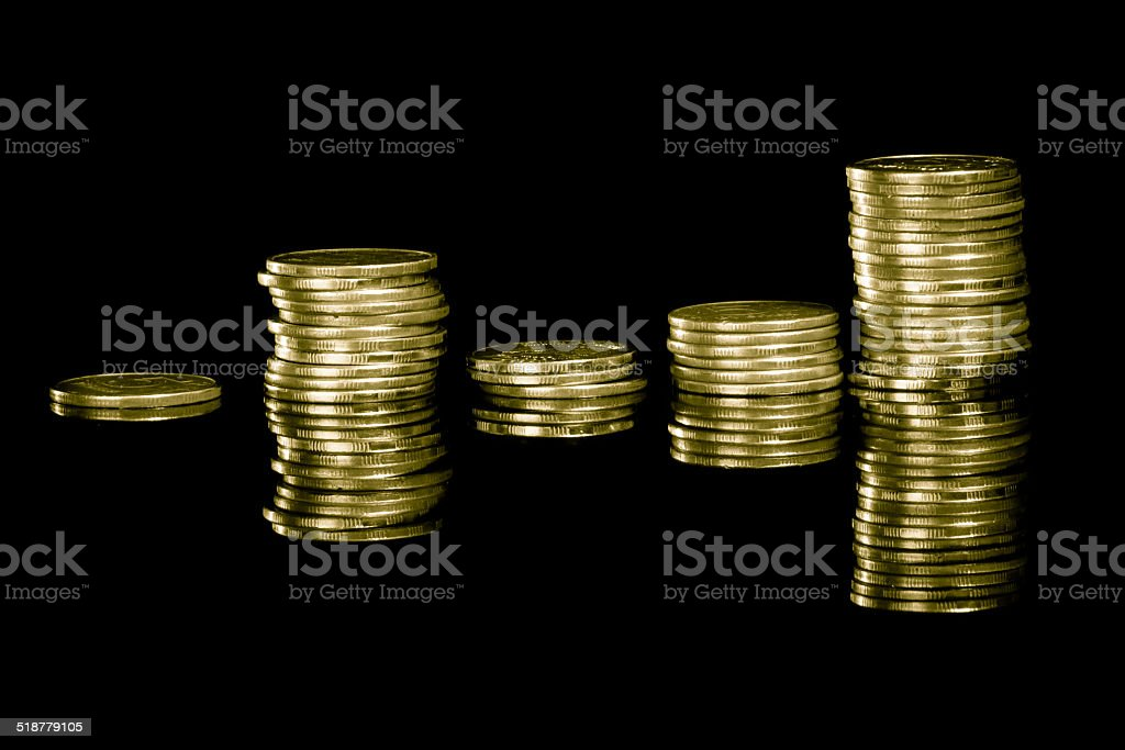 Stack of money. stock photo