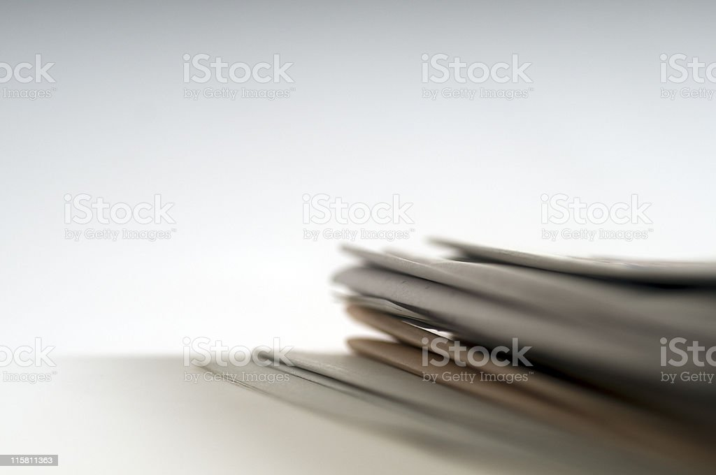 Stack of Newspaper, close-up royalty-free stock photo