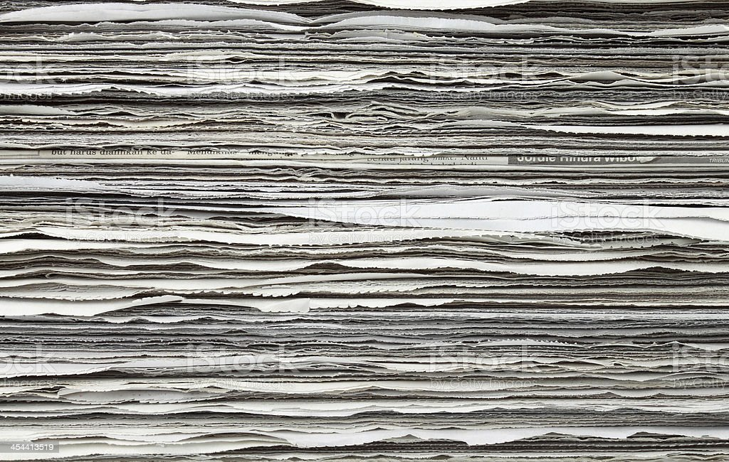 Stack of newspaper for background royalty-free stock photo