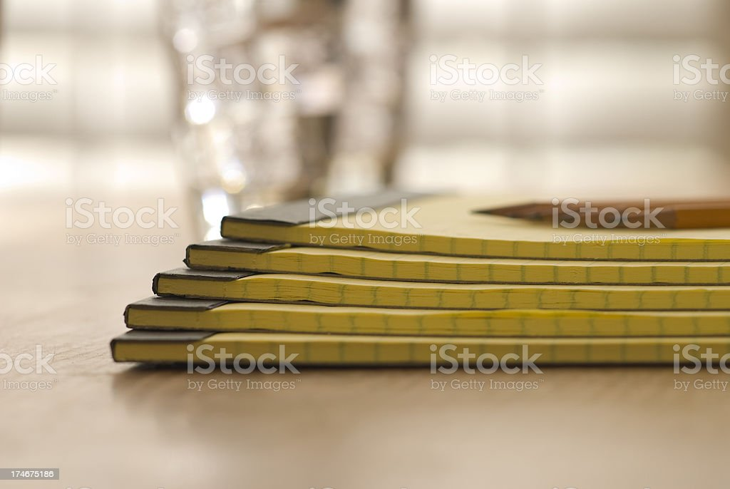 Stack of Notepads royalty-free stock photo