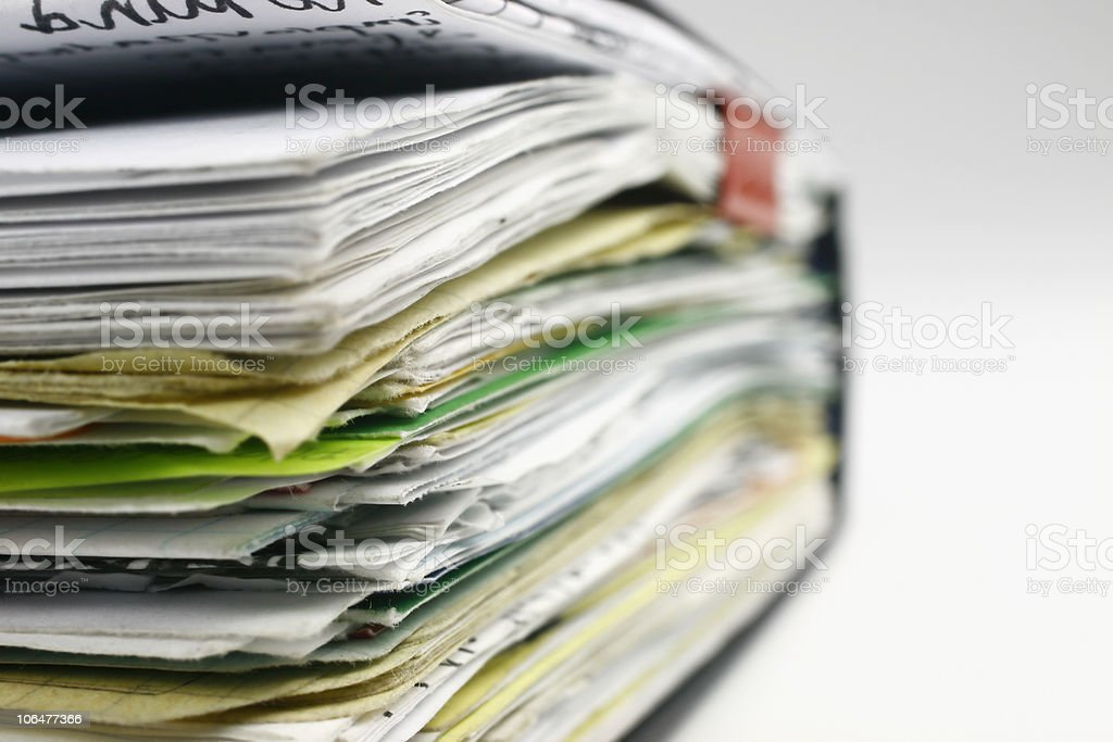 Stack of notes royalty-free stock photo
