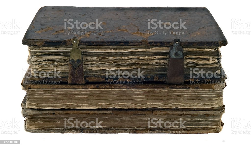 stack of obsolete books royalty-free stock photo