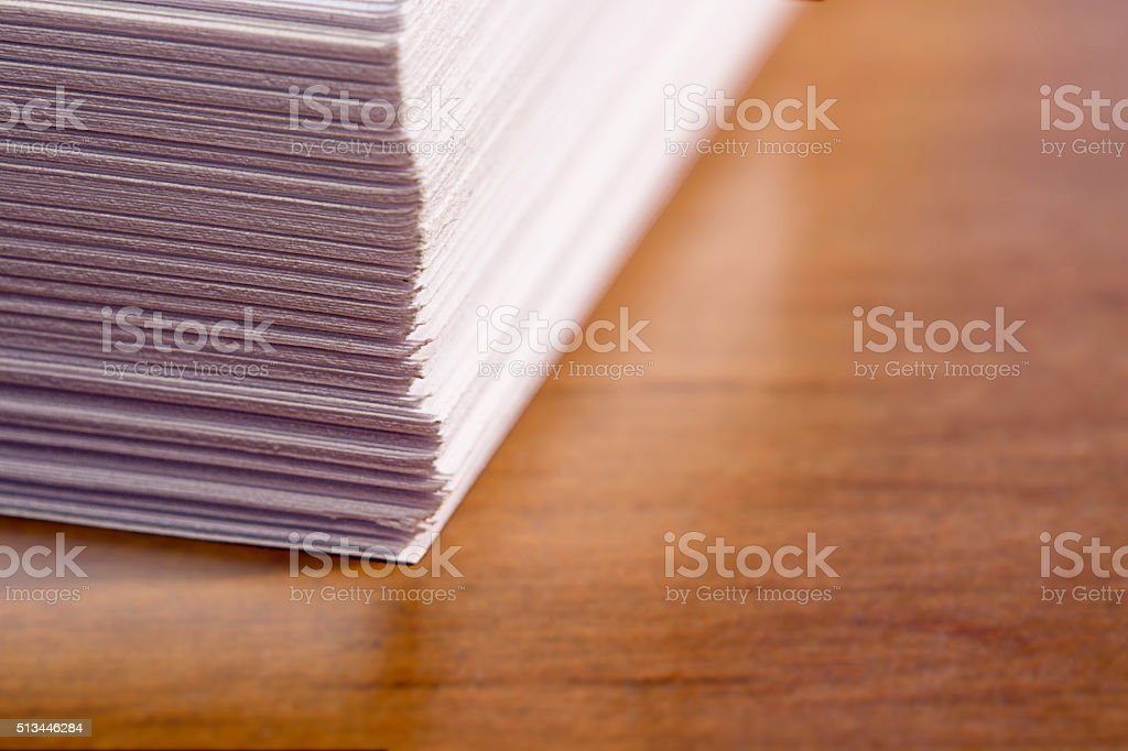 Stack of Office Papers stock photo