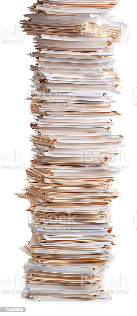 Stack of Office Work royalty-free stock photo