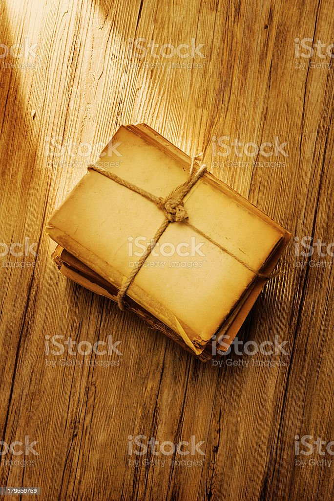 Stack of old documents royalty-free stock photo