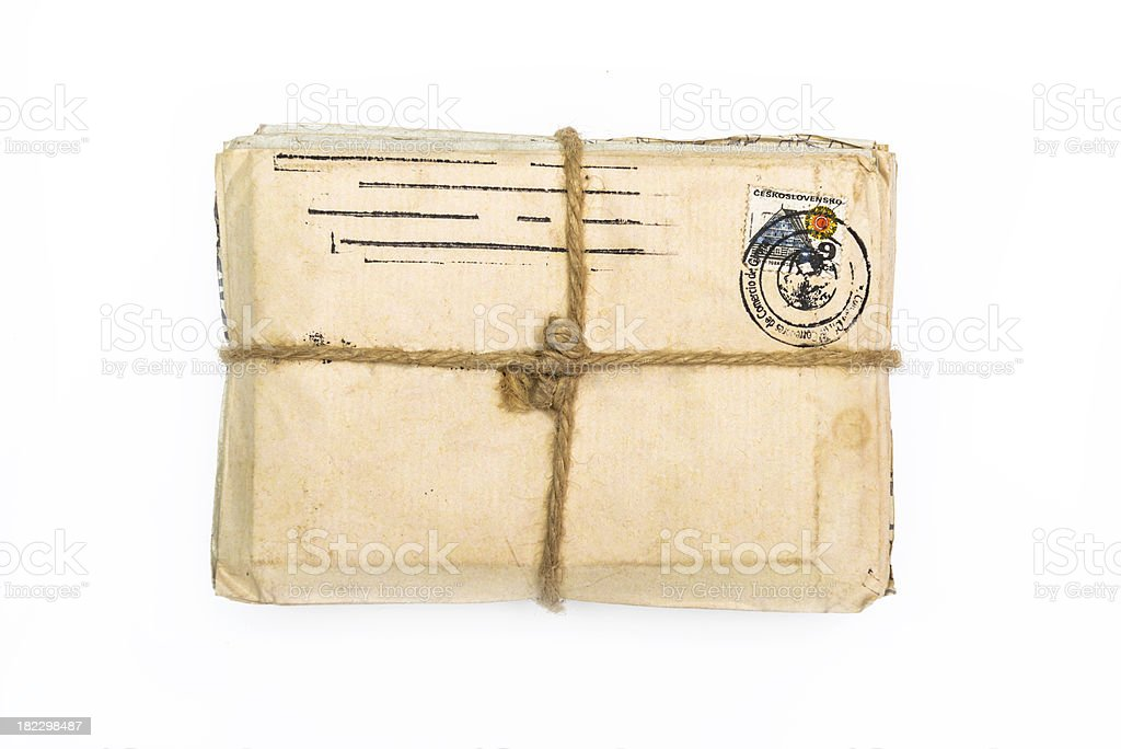 Stack of old letters royalty-free stock photo