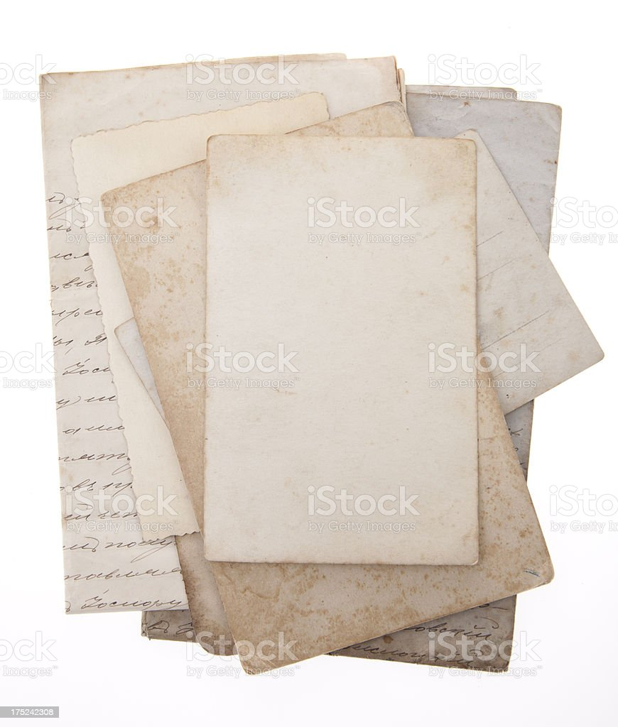 stack of old papers royalty-free stock photo