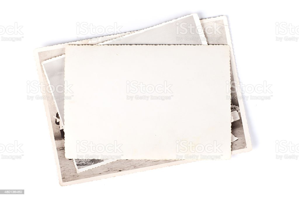 Stack of old photos royalty-free stock photo