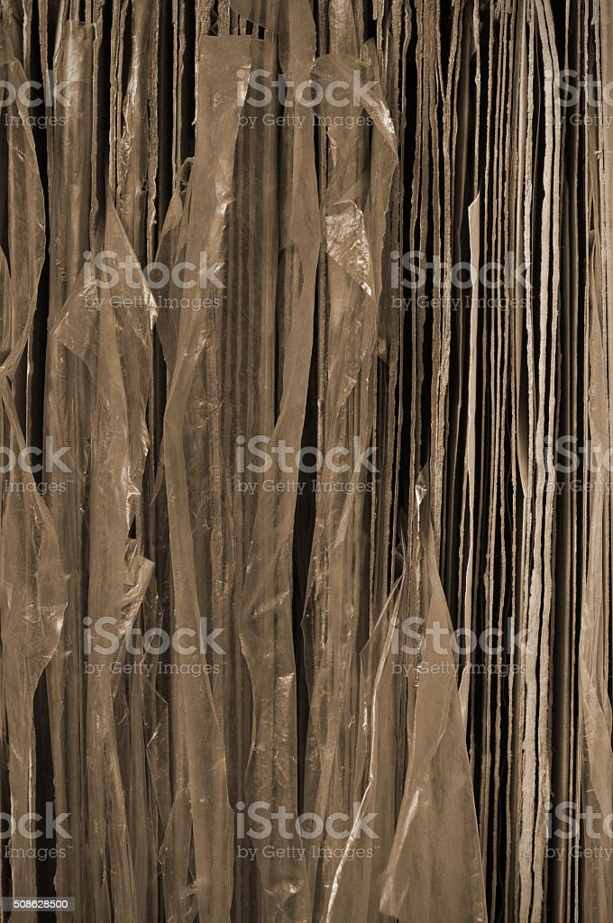 Stack of old vinyl records stock photo