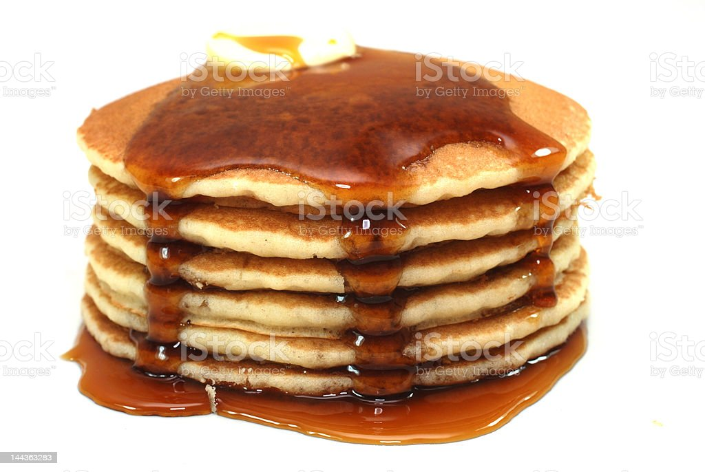 Stack of Pancakes and Syrup stock photo