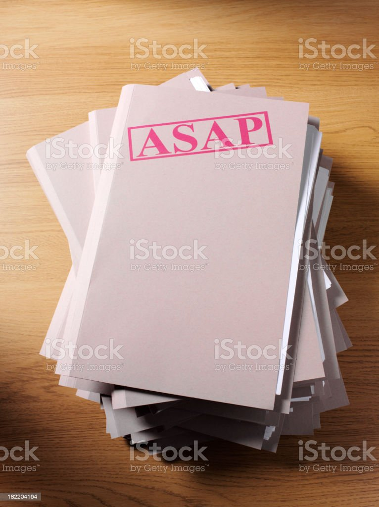 Stack of Paper Files royalty-free stock photo