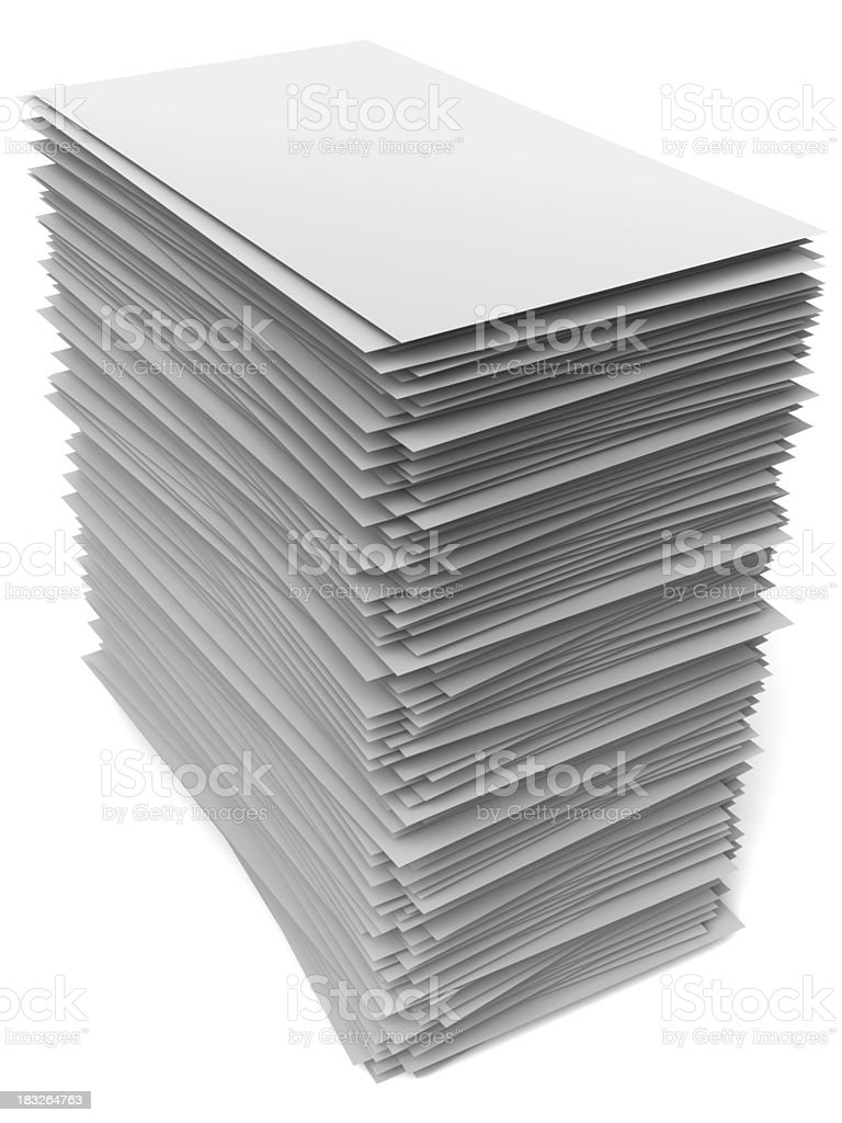 Stack of paper royalty-free stock photo