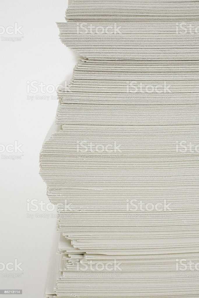A stack of paper stock photo