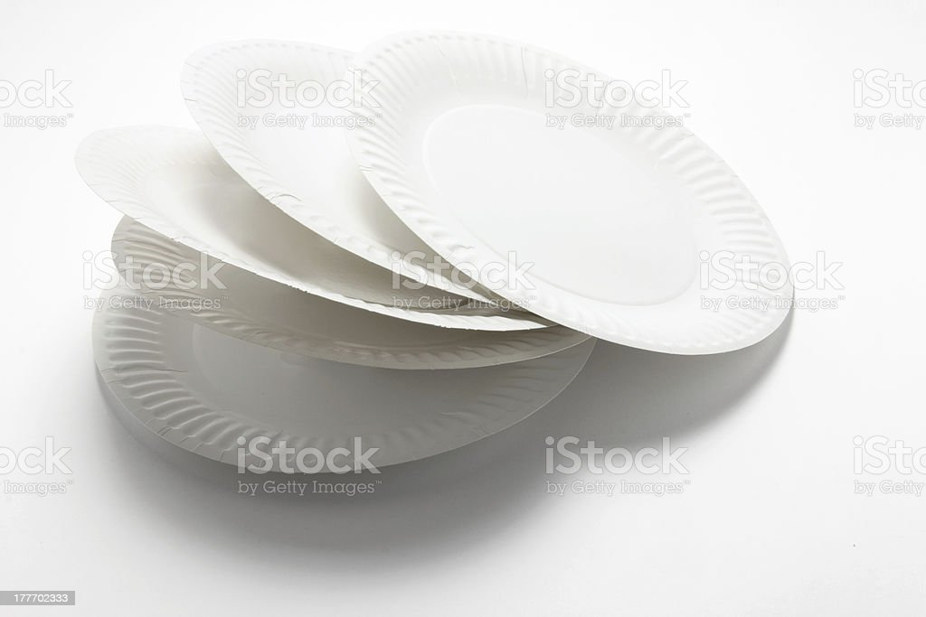 Stack of Paper Plates stock photo