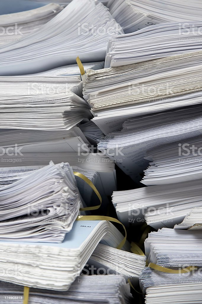 stack of papers 01 royalty-free stock photo