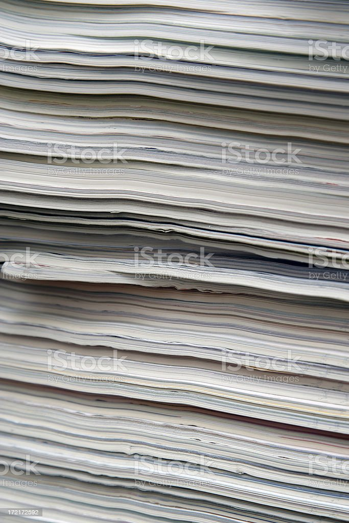 stack of papers 03 royalty-free stock photo