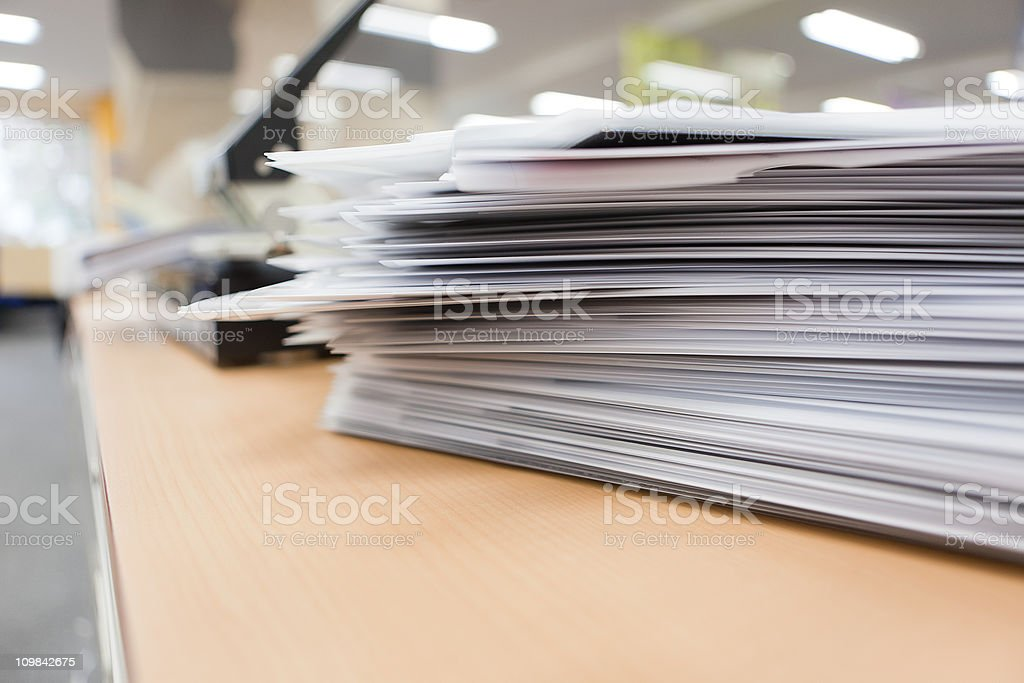 Stack of papers stock photo