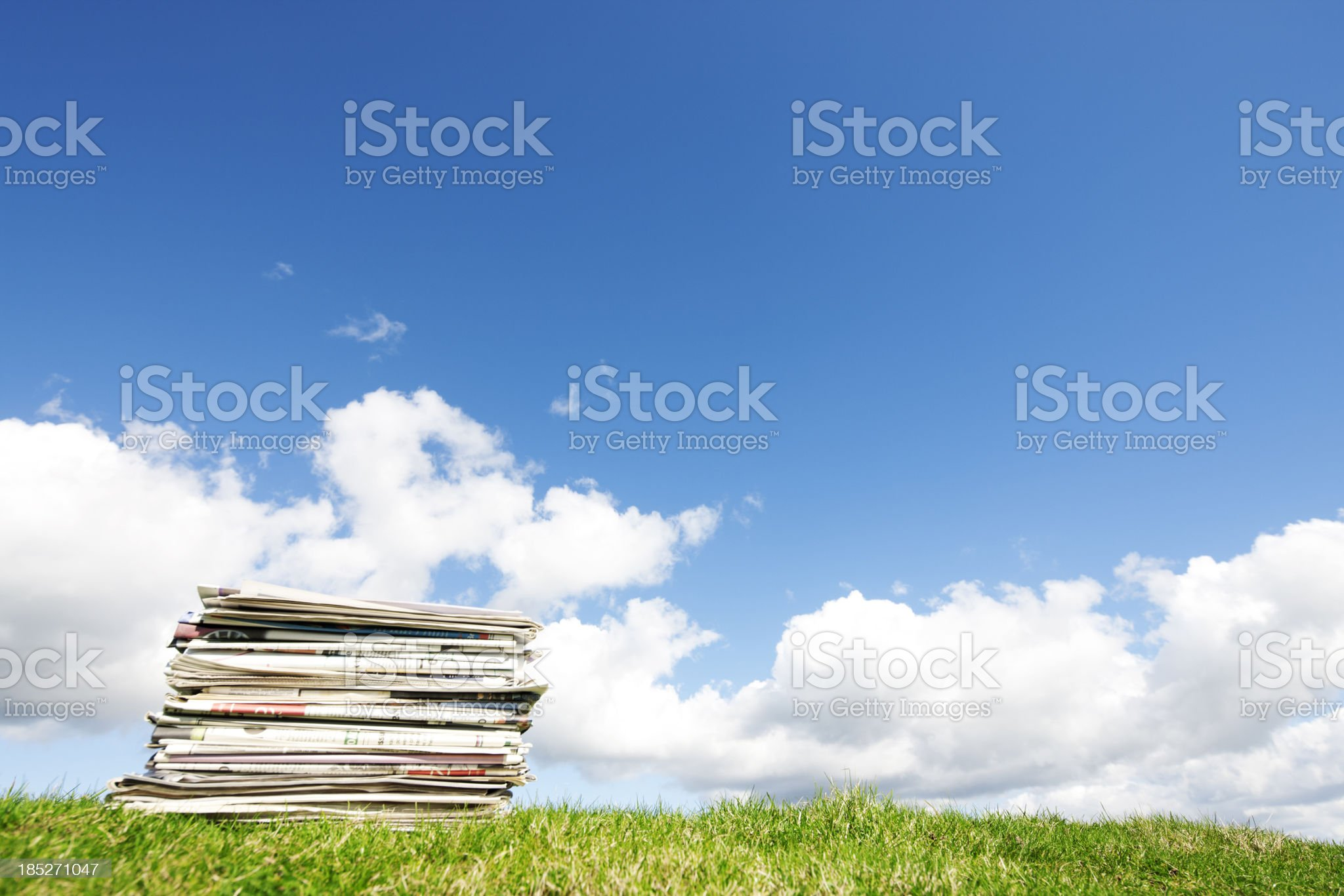 Stack of papers royalty-free stock photo