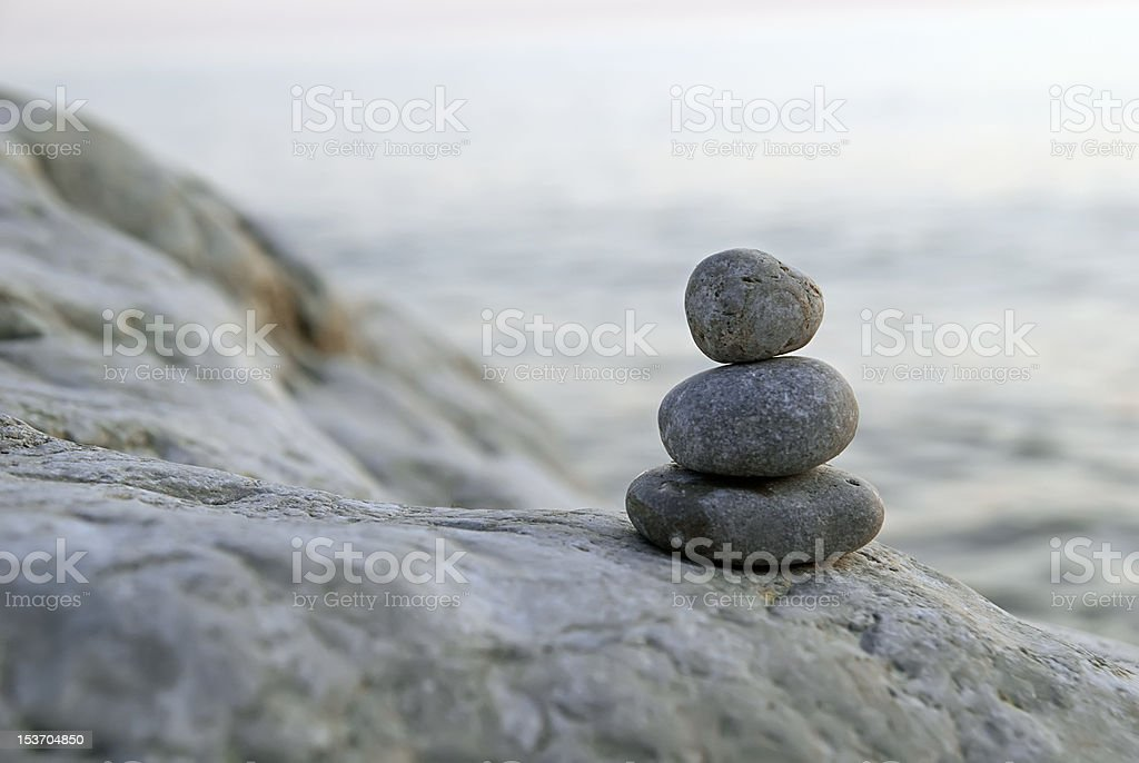 Stack of pebbles royalty-free stock photo