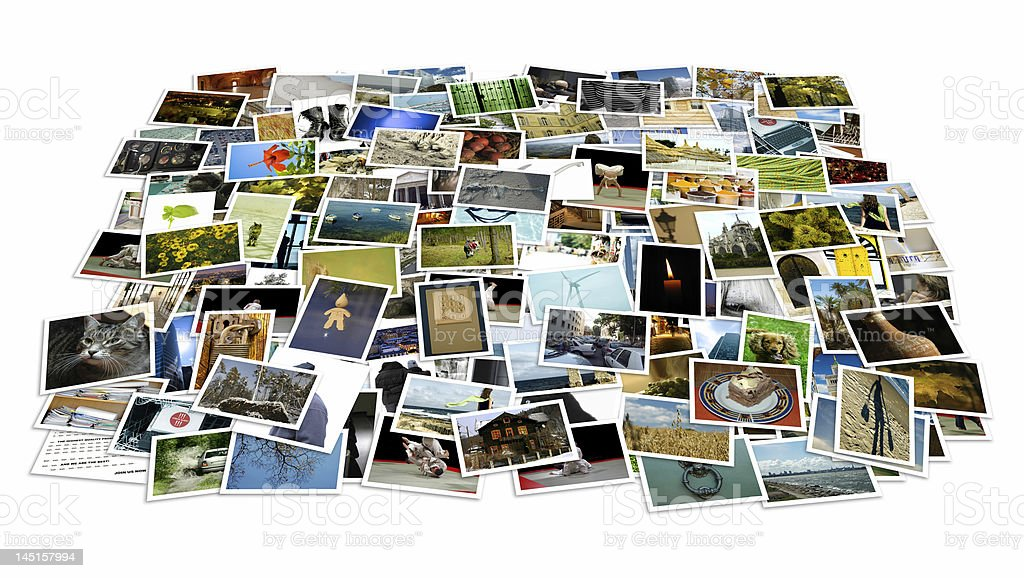 Stack of photos - background stock photo