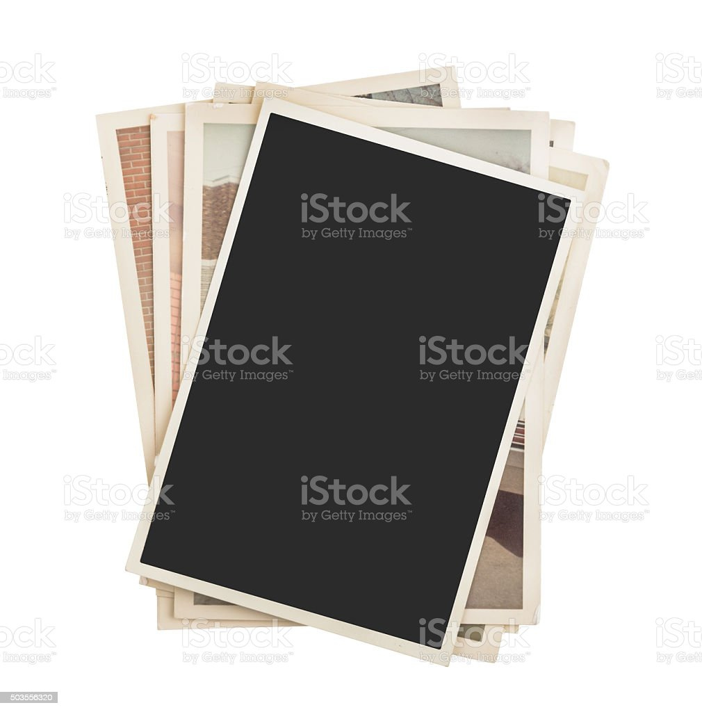 Stack of photos isolated royalty-free stock photo