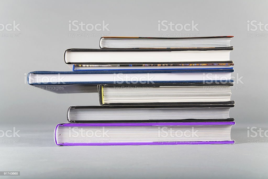 Stack of picture books stock photo