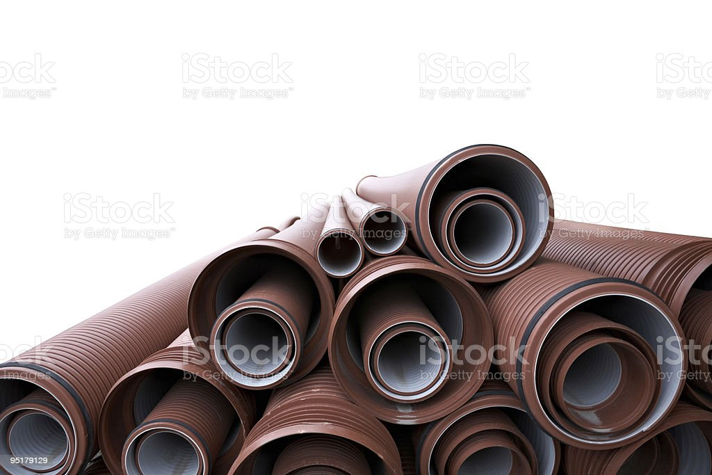 stack of pipes royalty-free stock photo