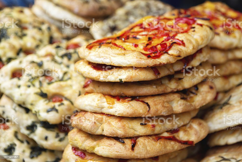 Stack of Pizzas royalty-free stock photo