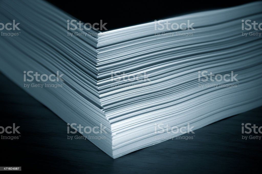 Stack of plain white paper royalty-free stock photo