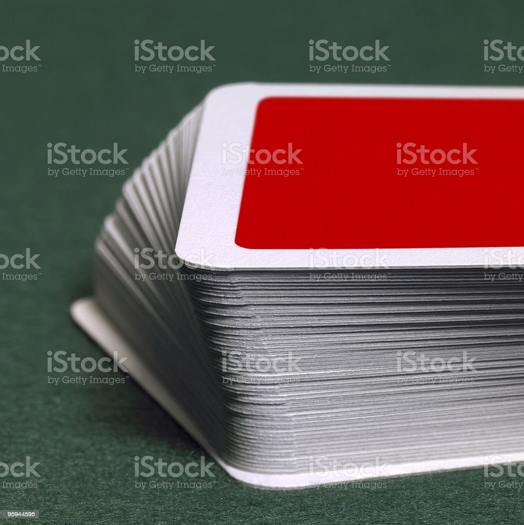 stack of playing cards stock photo