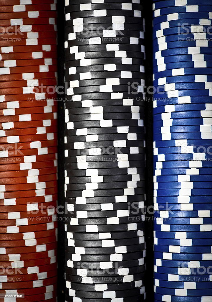 Stack of poker chips royalty-free stock photo