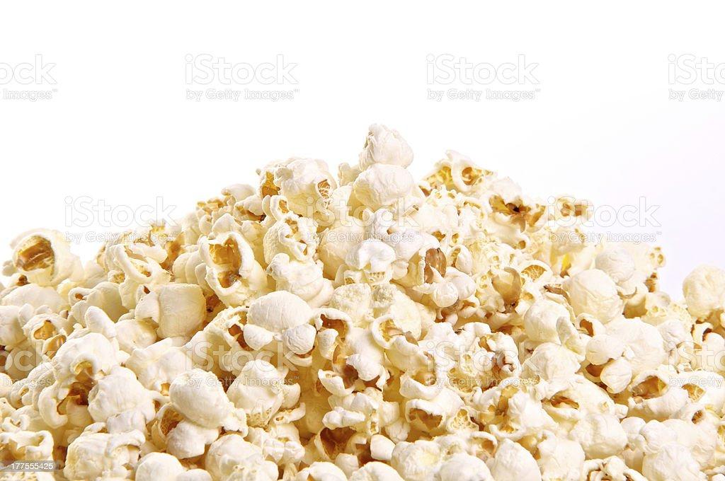 Stack of popcorn stock photo